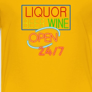 Liquor Beer Wine Neon - Toddler Premium T-Shirt