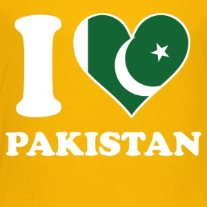 I Love Pakistan Pakistani Flag Heart - Toddler Premium T-Shirt