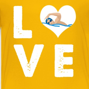 Love swimming - Toddler Premium T-Shirt