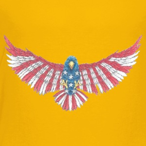 Fly America, Fly Eagle Flag - Toddler Premium T-Shirt