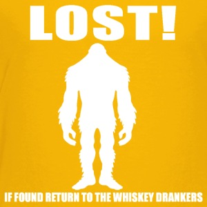 Bigfoot Lost wht - Toddler Premium T-Shirt