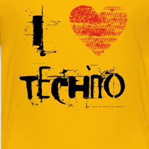 I love techno rave goa hardtek schwarz - Toddler Premium T-Shirt