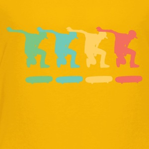 Retro Skateboarding Pop Art - Toddler Premium T-Shirt