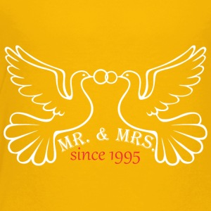 Mr And Mrs Since 1995 Married Marriage Engagement - Toddler Premium T-Shirt