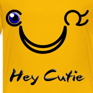 Hey Cutie Blue Eye Wink - Toddler Premium T-Shirt