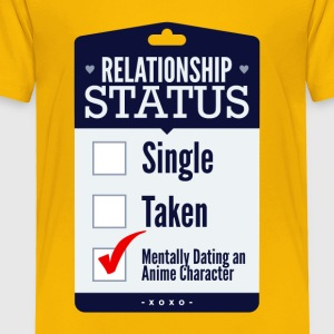 Relationship Status Dating An Anime Character - Toddler Premium T-Shirt