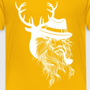 Old hunter and deer - Toddler Premium T-Shirt