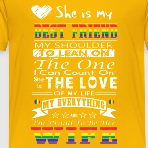 She Is My Best Friend Shirt - Toddler Premium T-Shirt
