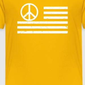 Distressed Usa Peace Flag - Toddler Premium T-Shirt
