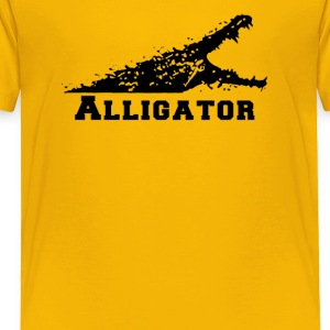Alligator with Open Mouth - Toddler Premium T-Shirt