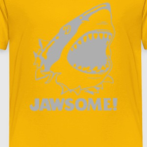 funny vintage soft Jawesome Jaws copy - Toddler Premium T-Shirt