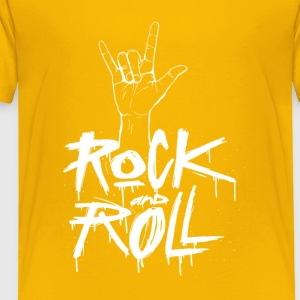 Rock and Roll Hand (White) - Toddler Premium T-Shirt