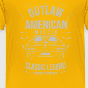 Outlaw American Muscle - Toddler Premium T-Shirt