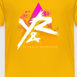 Young Reckless Pyramid Gradient Abstract - Toddler Premium T-Shirt