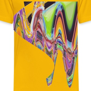 wave of abstract bird - Toddler Premium T-Shirt