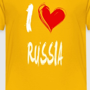 I love RUSSIA - Toddler Premium T-Shirt