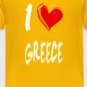 I love GREECE - Toddler Premium T-Shirt