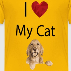 I Love My Cat - Toddler Premium T-Shirt