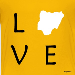 Love Nigeria (White Map) - Toddler Premium T-Shirt