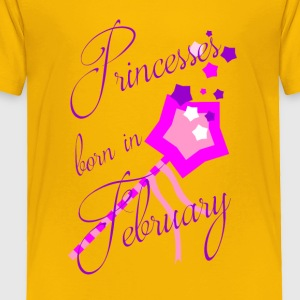 Princesses Born in February - Toddler Premium T-Shirt