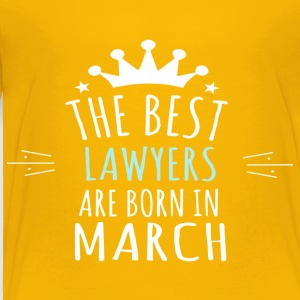 Best LAWYERS are born in march - Toddler Premium T-Shirt