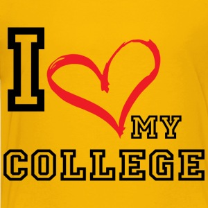 I_LOVE_MY_COLLEGE- PLUS SIZE - Toddler Premium T-Shirt