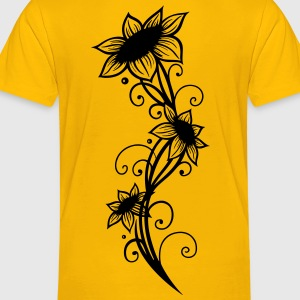 Large sunflowers with filigree ornament. - Toddler Premium T-Shirt