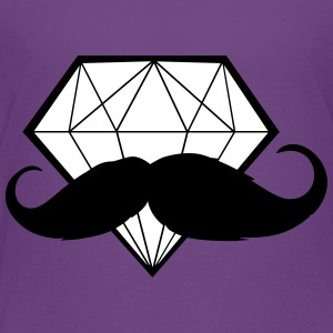 Diamond with Moustache - Hipster - Swag - Toddler Premium T-Shirt