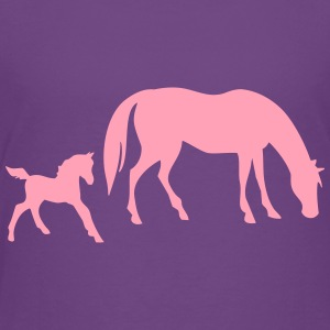 Horse with foal - Toddler Premium T-Shirt