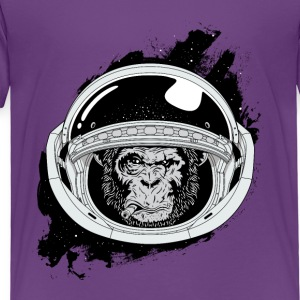 Space monkey Black and white Art - Toddler Premium T-Shirt