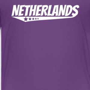 Netherlands Retro Comic Book Style Logo Dutch - Toddler Premium T-Shirt