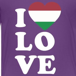 I love Hungary - Toddler Premium T-Shirt