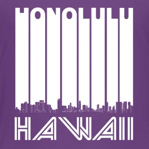 Retro Honolulu Hawaii Skyline - Toddler Premium T-Shirt