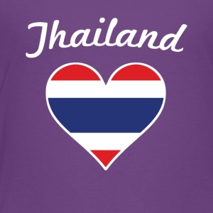 Thailand Flag Heart - Toddler Premium T-Shirt