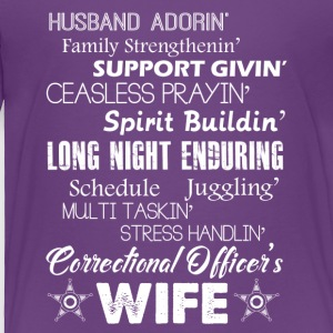 Husband Adorin Corrections Officers Wife Shirt - Toddler Premium T-Shirt