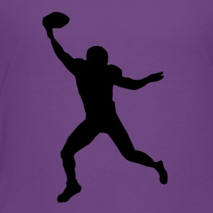 Football Wide Receiver Silhouette - Toddler Premium T-Shirt