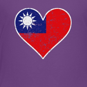 Distressed Taiwanese Flag Heart - Toddler Premium T-Shirt