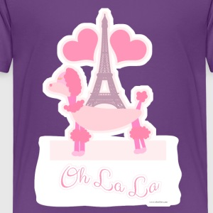 Sassy Pink Paris Poodle - Toddler Premium T-Shirt