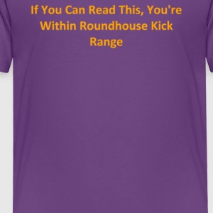 If You Can Read This You re Within Roundhouse Kic - Toddler Premium T-Shirt