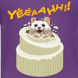 Kitten coming out of the cake - Toddler Premium T-Shirt