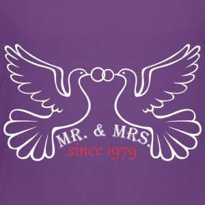 Mr And Mrs Since 1979 Married Marriage Engagement - Toddler Premium T-Shirt