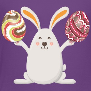 Bunny Happy Easter Eggs - Toddler Premium T-Shirt