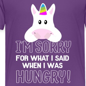 hungry unicorn - Toddler Premium T-Shirt