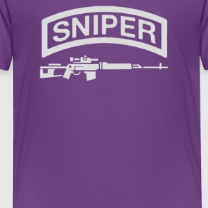 Sniper Rifle firearms Logo - Toddler Premium T-Shirt