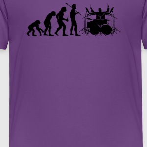 Evolution of Drummer - Toddler Premium T-Shirt
