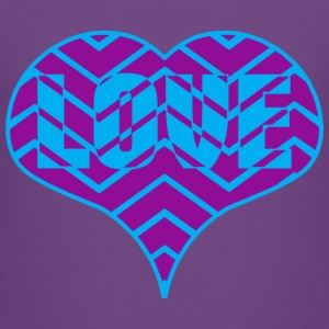 CHEVRON LOVE HEART - Toddler Premium T-Shirt