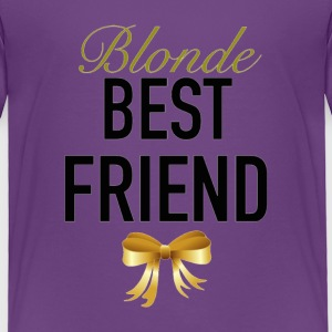 Blonde Best Friend- Ribbon - Toddler Premium T-Shirt