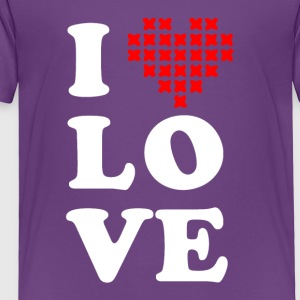 I love cross stitch - Toddler Premium T-Shirt
