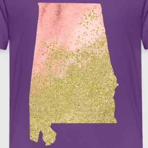 Alabama State Watercolor in Peach and Gold - Toddler Premium T-Shirt