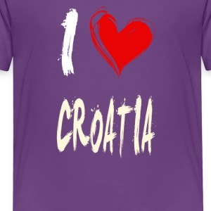 I love CROATIA - Toddler Premium T-Shirt